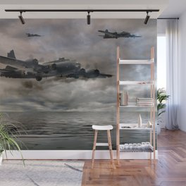 B-17 Flying Fortress - Almost Home Wall Mural