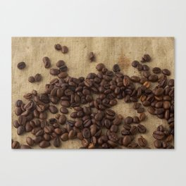 scattered coffee bean Canvas Print