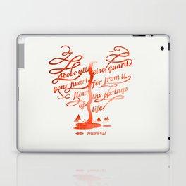 Your hear (monochrome version) Laptop & iPad Skin