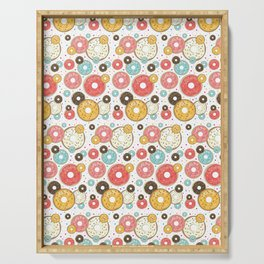Doughnuts Sprinkles Sugar And Dots Pattern  Serving Tray