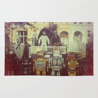 robots Area & Throw Rugs featuring Robots by GF Fine Art Photography