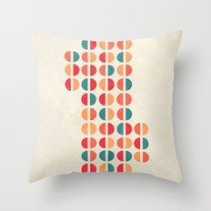 halfsies I Throw Pillow