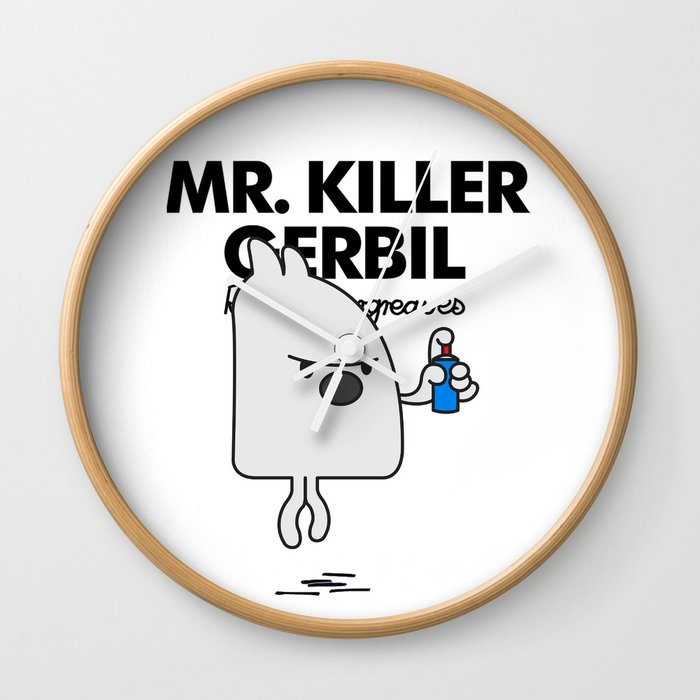 MR KILLER GERBIL Wall Clock