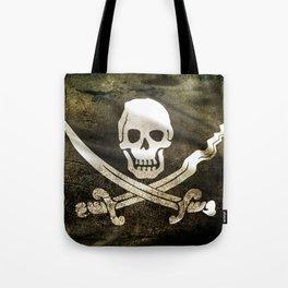 Pirate Skull in Cross Swords Tote Bag