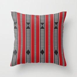 red torogi weave Throw Pillow