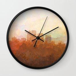 Louisville, Kentucky Skyline - In the Clouds Wall Clock