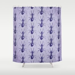 Purple Ant Shower Curtain