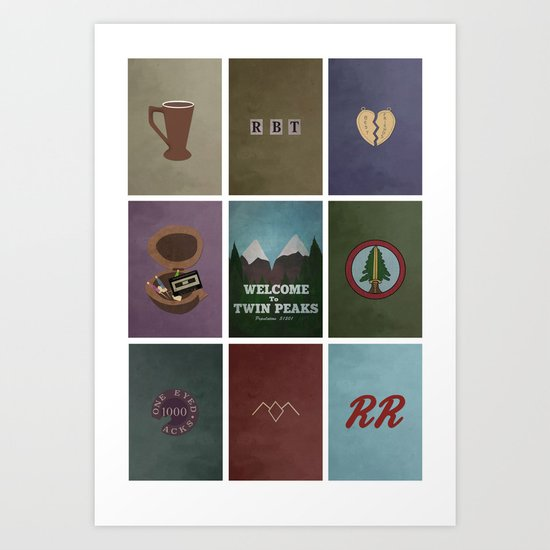 Twin Peaks colors Art Print