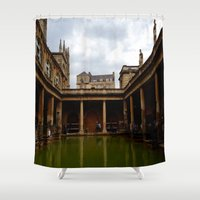 england Shower Curtains featuring Bath, England by Samantha Brockbank