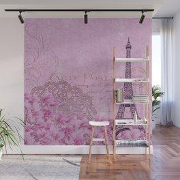 Paris in Pink Wall Mural