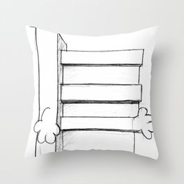 Mr. Brutalism Throw Pillow