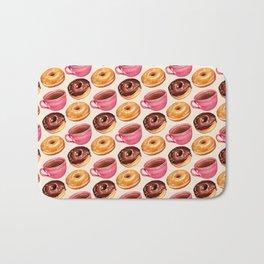 Coffee & Donuts Pattern Bath Mat