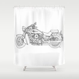 KAWASAKI VULCAN 1600 CLASSIC 2006, Christmas gift!!! Shower Curtain