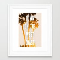 west coast Framed Art Prints featuring WEST COAST by Jack Stobart
