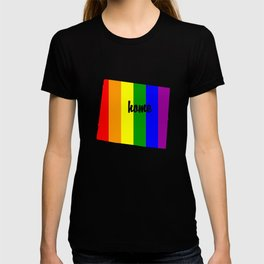 Wyoming-Map-Rainbow-Pride-Gifts T-shirt