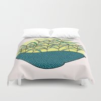 palm Duvet Covers featuring palm by Aleksandra Salevic