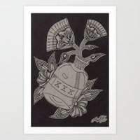 whiskey Art Prints featuring Whiskey by Mason Rudy