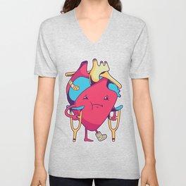 Broken Heart limp Unisex V-Neck