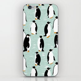 Penguins go with the floe iPhone Skin