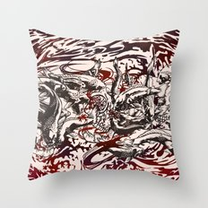 Koi Whirlpool Throw Pillow