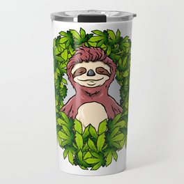 Stoned Sloth | Weed Cannabis THC CBD Ganja Travel Mug