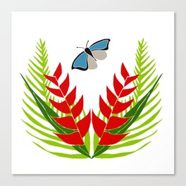 Blue wing Butterfly Canvas Print