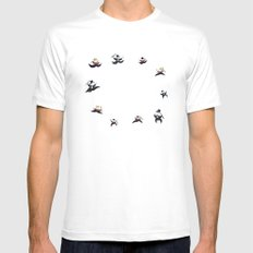 Ten Lords-a-Leaping White MEDIUM Mens Fitted Tee
