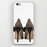 heels iPhone & iPod Skins featuring Bow Heels by CristinaAyala