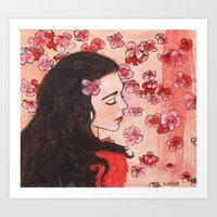 snow white Art Prints featuring Snow White by Sarah Larguier