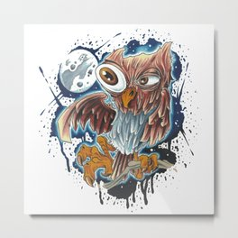 Bro,do you even owl? Metal Print