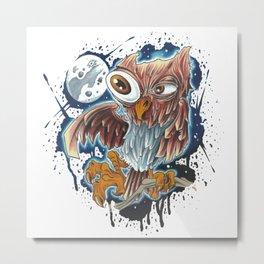 Bro,do you even owl? Metal Print