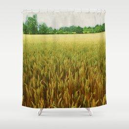 Textured Crop Shower Curtain