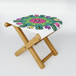 Tulip Delights Mandala Folding Stool