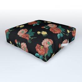 Moody Vintage Floral Outdoor Floor Cushion