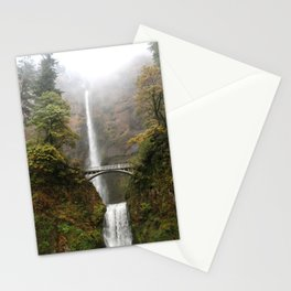 Multnomah Falls in Autumn Stationery Cards