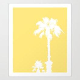 Palm Silhouettes On Yellow Art Print