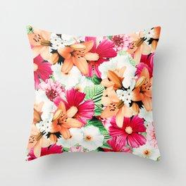 Flowers Potpourri two Throw Pillow