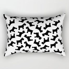 Schnauzer - Simple Dog Silhouette Rectangular Pillow