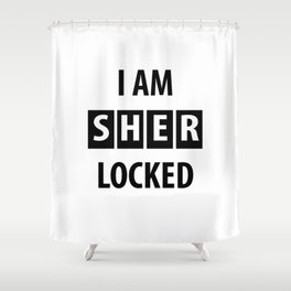 sherlocked Shower Curtain