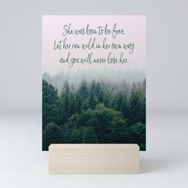 Born to be Free Mini Art Print