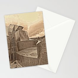 Storm clouds over Guggenheim museum - Bilbao Stationery Cards