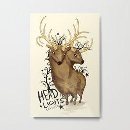 Disoriented Deer Metal Print