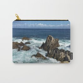 Waves crashing on rocks in Monterey Bay Carry-All Pouch
