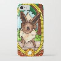 eevee iPhone & iPod Cases featuring Eeveevolution Series - Eevee by Jazmine Phillips
