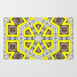 Square Hexogon Rug