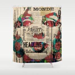 sepia Mrs. Monroe Hollywood POP ART CELEBRITY Shower Curtain