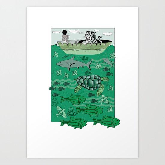 Sea Traffic Art Print