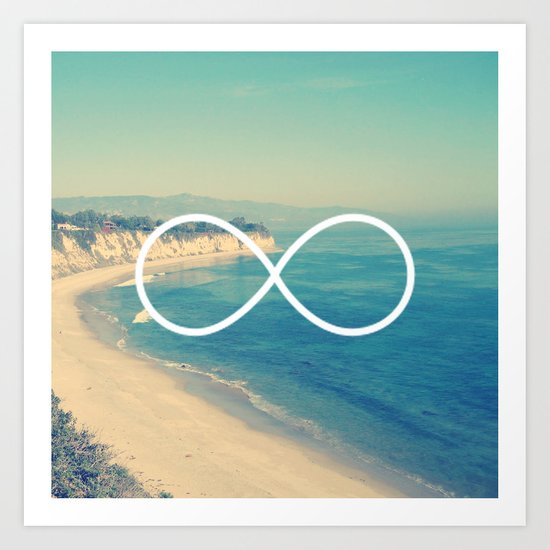 Forever Summer California Infinity Art Print