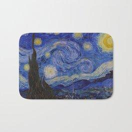 The Starry Night by Vincent van Gogh (1889) Bath Mat