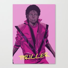 THRILLER - Leather jacket Version Canvas Print